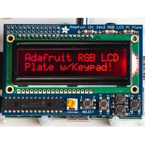 画像1: Adafruit RGB Negative 16x2 LCD+Keypad Kit for Raspberry Pi