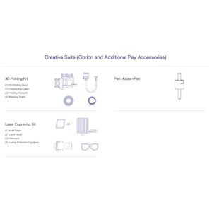 画像2: Creative Suite(3D Print/Pen Holder+Pen/Laser Engraving Kit)