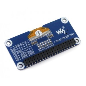 画像3: 1.3inch OLED display HAT for Raspberry Pi (128x64)