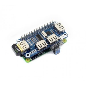 画像2: 4 Port USB HUB HAT for Raspberry Pi