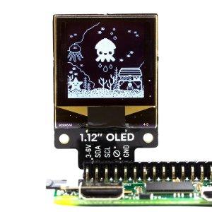 """画像1: 1.12"""" Mono OLED (128x128, white/black) Breakout"""