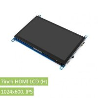 "7"" HDMI LCD(H)、1024 x 600 (ケース無し)"