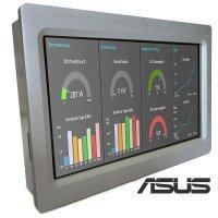 Panel PC Industrial, carcasa de Aluminio,Cumplimiento EMC (ASUS Quad-Core, 2GB, 16Gb eMMC+MicroSD socket)