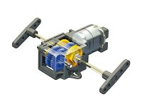 シングルギヤボックス(4速タイプ) Item No:70167    Single Gear Box(4-speed)