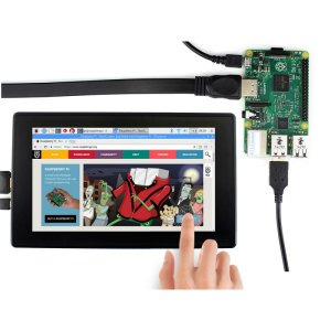 画像1:  [Raspberry Pi4 対応] 7 HDMI LCD (H) (with case), 1024x600, IPS