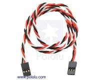 "Twisted Servo Y Splitter Cable 24"" Female - Female"