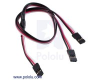 "Servo Y Splitter Cable 12"" Female - 2x Female"