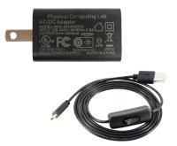 5V 3.0A Micro USB電源セット セパレートタイプ-Physical Computing Lab