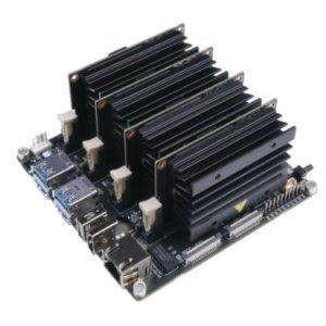 画像2:  Jetson Mate With Cooling Fan - Jetson Nano/NX Carrier Board for GPU Cluster and Server