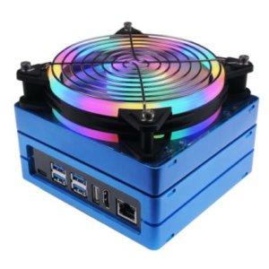 画像1:  Jetson Mate With Cooling Fan - Jetson Nano/NX Carrier Board for GPU Cluster and Server