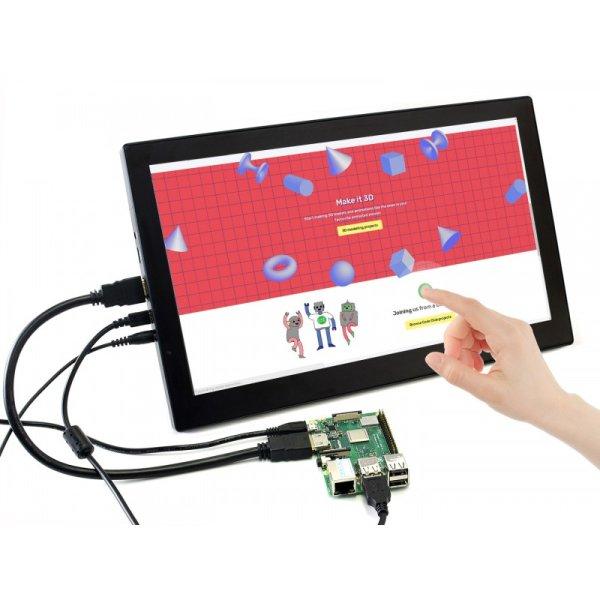 画像1: [Raspberry Pi4 対応] 13.3 HDMI LCD(H) (with case) V2, 1920x1080, IPS (1)