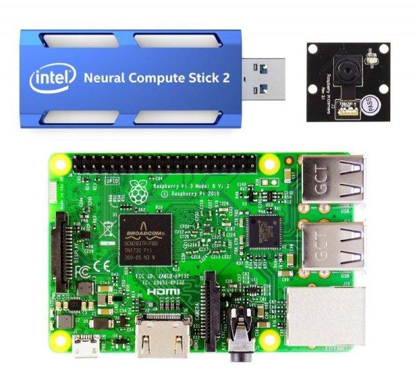 画像1: Raspberry Pi3 AIカメラ スターターキット(Neural Compute Stick 2版) (1)