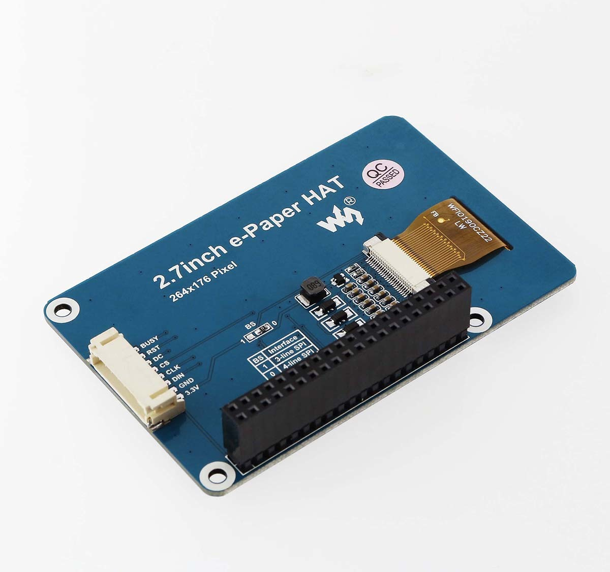 264x176 2.7inch E-Ink display HAT for Raspberry Pi red black white SPI interface